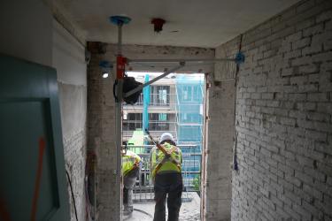 Mobiel ankerpunt valbeveiliging sloop balkon boven