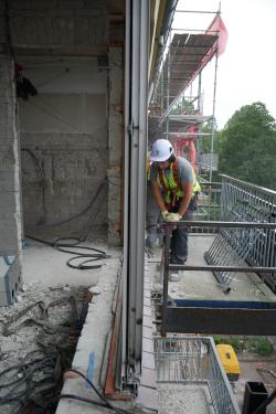 Mobiel ankerpunt valbeveiliging - los hakken balkon