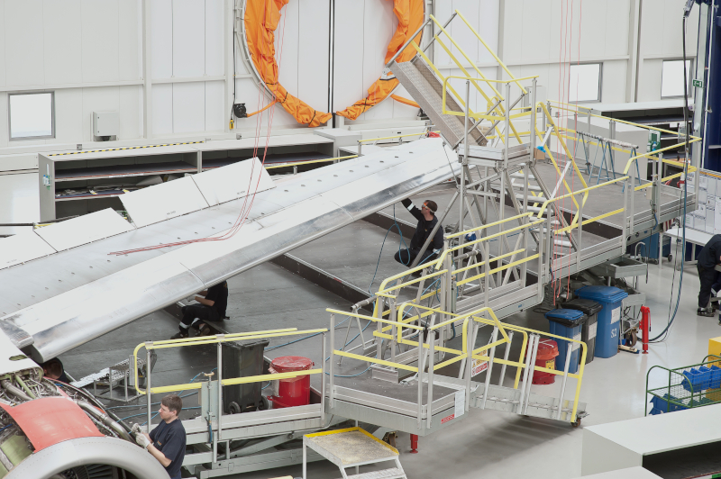 Vliegtuig onderhoudsplatform - Wing dock system